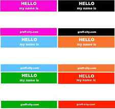 120 HELLO MY NAME IS STICKERS - 6 MIXED COLOURS