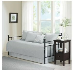 Madison Park Quebec 6 Piece Daybed Bedding Set Gray