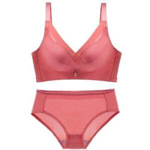 retro sexy bra sets push up bra panty gather lingerie underwear lace pink 32-40C