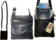 New hand bag leather passport case credit Card case purse neck travel pouch BnWT