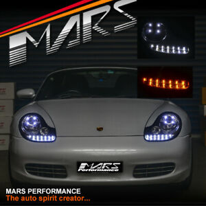 Crystal DRL LED Projector Head Lights for PORSCHE Carerra 911 996 & Boxster 986