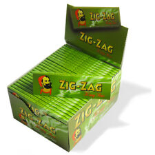 Zig Zag King Size Green Rolling Paper - Box Of 50 Booklets