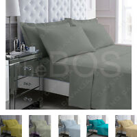 Percale Non Iron Fitted, Sheets and Pillow Cases All Sizes Soft and Comfort(120)