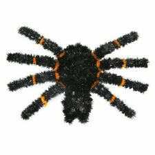 Large Horror Hanging Tinsel Decoration Black Plastic SpiderParty&Home Decoration