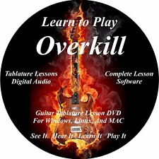 Overkill Guitar Tablature Lesson  CD 72 Songs + Backing Track + MEGA BONUS!