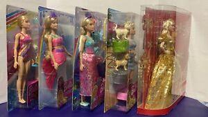 Mattel Barbie Lot Of 5 Christmas 2020 Holiday Signature Barbie Dreamtopia NEW