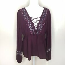 Aeropostale Long Sleeve Tunic Blouse Size XL NWT