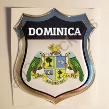Pegatina Dominica Escudo de Armas 3D Emblema Vinilo Adhesivo Resina Relieve Moto