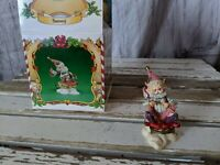 Enesco Sammy sledding elf North Pole village Sandy Ziminski
