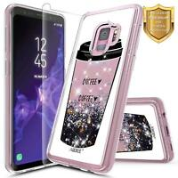 Samsung Galaxy Note 9/S9 Plus/S9 | Shockproof Glitter Liquid Clear Cover Case