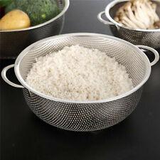 Kitchen Bathroom Stainless Steel Strainer Rice Drainer Fruit Vegetable Storage