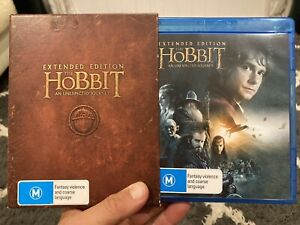 The Hobbit: An Unexpected Journey Extended Edition Blu Ray in Slip Case *MINT*