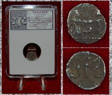 Ancient Coin SAMARIA King Holding Lions In Hands Silver Obol RARE COIN!