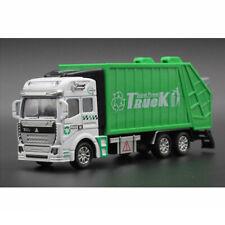 1:48 Garbage Truck Trash Bin Model Car Diecast Toy Vehicle Pull Back Kids Gift