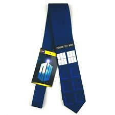 Officially Licensed BBC Doctor Who Classic TARDIS Tie Blue Necktie