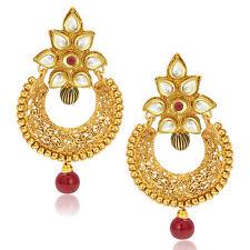 Sukkhi Dazzling Gold Plated Kundan Chandbali Earring(6213EKDP700)