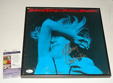 FRAMED Guitarist Johnny Winter Signed Saints & Sinners Album LP JSA CERT COA