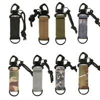 Tactical Military Molle Nylon Key Hook Carabiner Webbing Clip Belt Buckle Strap