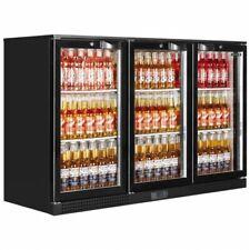 More details for 3 hinged door undercounter man cave pub drink bottle fridge new em331h