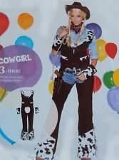 Cowgirl 3tlg. Hose Weste Manschetten S 36/38 Western Karneval Fasching braun