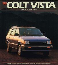 BIG 1988 Dodge <Mitsubishi> COLT VISTA Brochure / Catalog w/ Specifications: 4WD