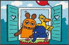Fußmatte waschbar Guten Morgen 50x75cm Die Maus Elefant Ente wash+dry Bodenmatte