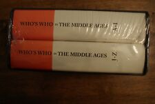 WHO'S WHO IN THE MIDDLE AGES. 2 VOLUMES.  BRAND NEW BOUND. WHOS WHO