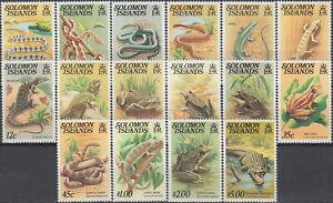 Solomon Defins Reptiles 1979 MNH-22 Euro