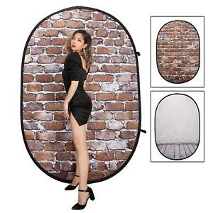 Pop Up Backdrop Collapsible 2x1.5m Double Sided Background Photography Studio UK