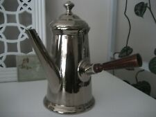 Porcelaine de Paris France Kaffeekanne Kakaokanne Porzellan Platin Holzgriff +Nr