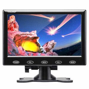 7 inch Monitor Display CCTV PC Security Monitor USB/VGA/AV/HDMI Remote Control