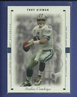 Troy Aikman 1999 SP Authentic PROMO Sample Card # 1 Dallas Cowboys Football HOF