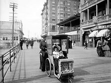 DOLLY'S GO CART SEASIDE VINTAGE HISTORY OLD BW PHOTO PRINT POSTER ART 548BWLV