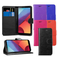 For LG G6 H870 Case - Premium PU Luxury Leather Wallet Flip Case Cover + Screen