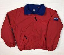 Vtg 90s Gap Mens Mtn Alpine Country Red Fleece Lined Windbreaker Jacket Sz Small