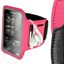 Rosa Antiscivolo Braccio Armband Neoprene Sport per Sony Walkman NWZ-E585 & E384
