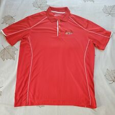 St. Louis Cardinals Dri Fit Tour Performance Size Extra Large Red Golf Polo MLB