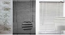 Embossed Pattern PVC Blind Venetian Window Blinds Trim-able Steel Grey & White