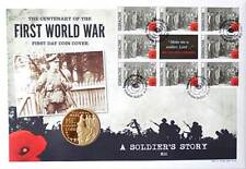 First Day Coin Cover WW1 Coin & Stamps Collection World War One - Kit