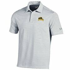 Large Black Under Armour Adult Men NCAA Playoff Short Sleeve Stripe Polo