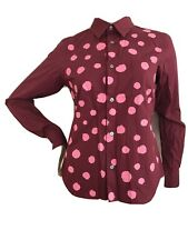 COMME DES GARCONS H&M RARE RED PINK POLKA DOT COTTON SHIRT S UK10 EU36 US6 BNWT