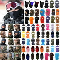 Mens Winter Outdoor Snowboard Full Face Mask Ski Neck Protection Camo Balaclava