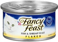 Purina Fancy Feast Wet Cat Food Flaked Fish And Shrimp Feast 3-Ounce 24 Pack