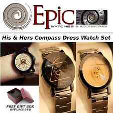 EPIC TIME-His and Hers Compass Dress Watch Set