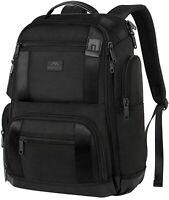 "Matein Men's Black 17"" TSA-Friendly Travel Laptop Backpack 32.7L Carry-On Bag"