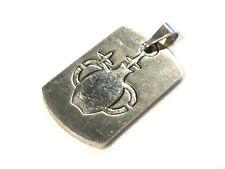 Bijou acier pendentif grand format signe du zodiaque verseau pendant