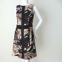CUE  Sleeveless Dress  Zip Front Sheath with Front Pockets NEW  Size 8 US 4