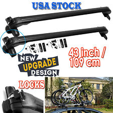 2 43'' Car Roof Rack Cross Bar Cargo Carrier Aluminum For Ford F-150 F-250 F-350