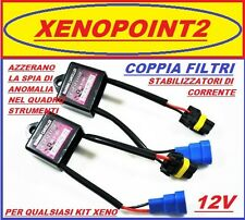 COPPIA FILTRI WARNING CANCELLER CAN BUS PER KIT XENO AUDI VW BMW OPEL XENON H7
