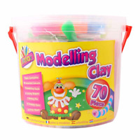 Kids Modelling Clay Set Plasticine 70 Pack Non Toxic Play Craft & Create 3+Years